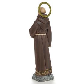 San Francesco D'Assisi 40 cm pasta di legno dec. elegante s3