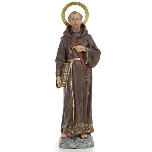 San Francesco D'Assisi 40 cm pasta di legno dec. elegante 1
