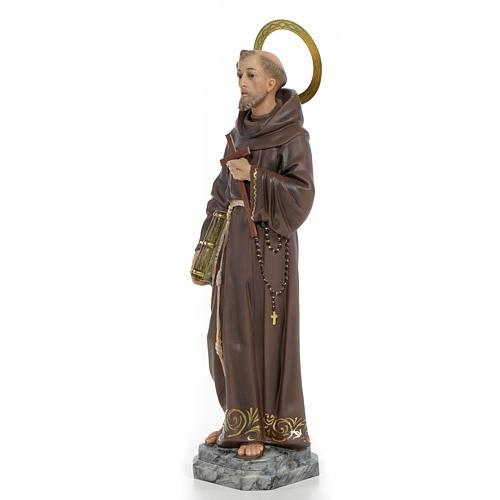 San Francesco D'Assisi 40 cm pasta di legno dec. elegante 2