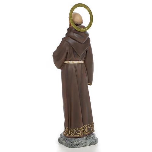 San Francesco D'Assisi 40 cm pasta di legno dec. elegante 3