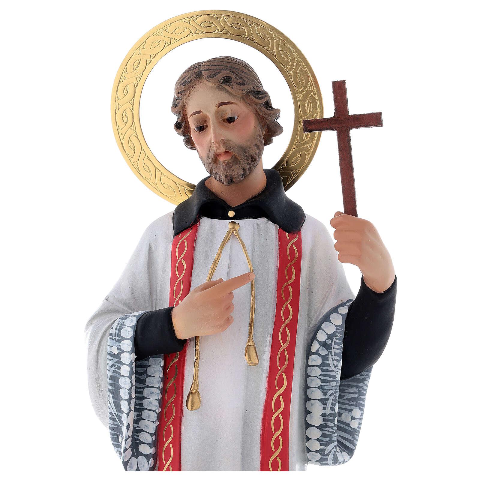San Francesco Saverio 40 cm pasta di legno dec. elegante 4