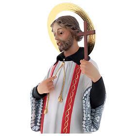 San Francesco Saverio 40 cm pasta di legno dec. elegante s4