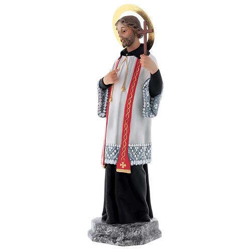 San Francesco Saverio 40 cm pasta di legno dec. elegante 3