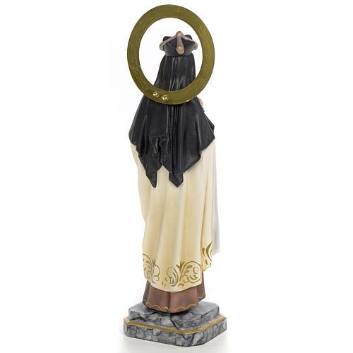 Santa Teresa di Gesù 30 cm pasta di legno dec. elegante 3
