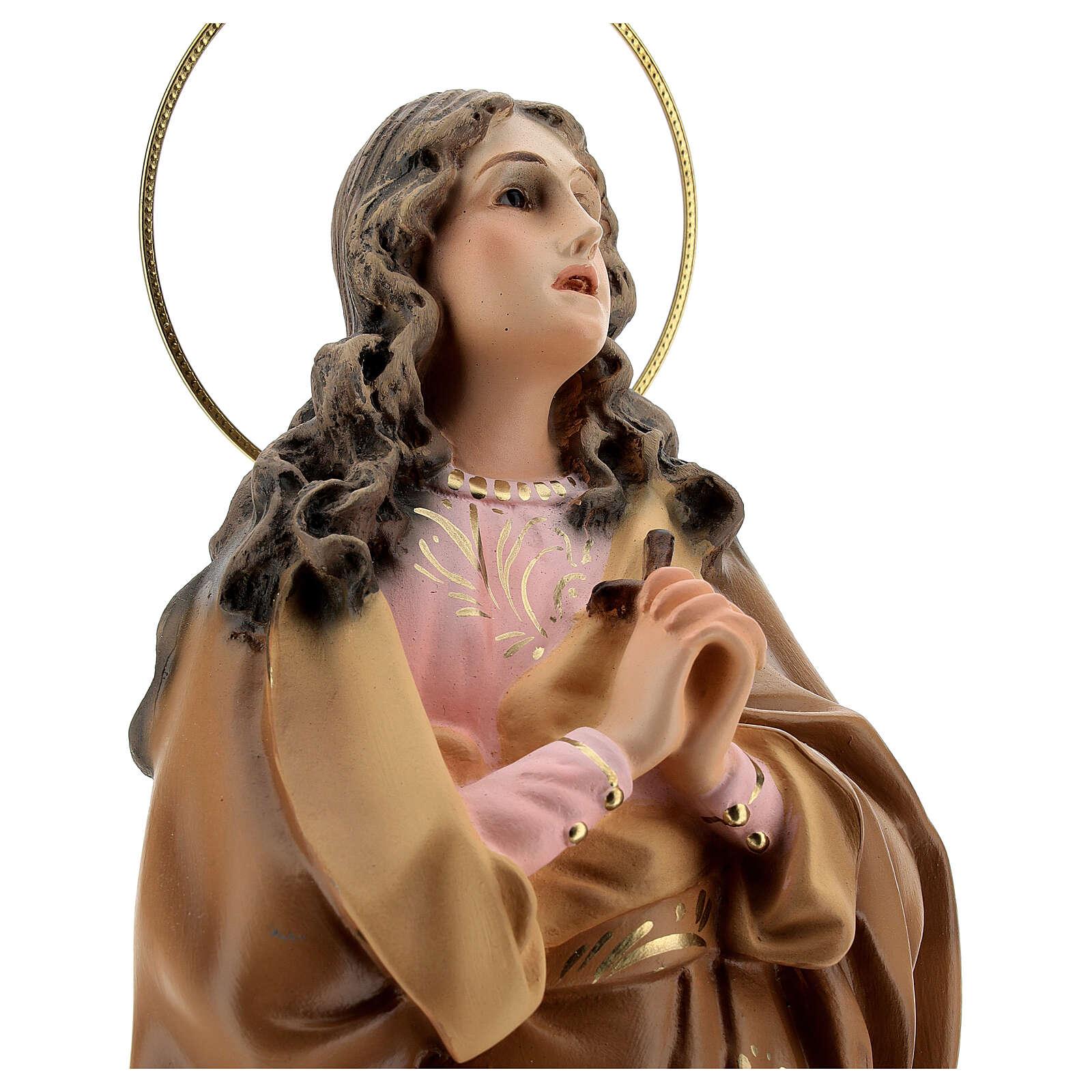 Santa Maria Maddalena 40 cm pasta di legno dec. elegante 4