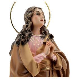 Santa Maria Maddalena 40 cm pasta di legno dec. elegante s4