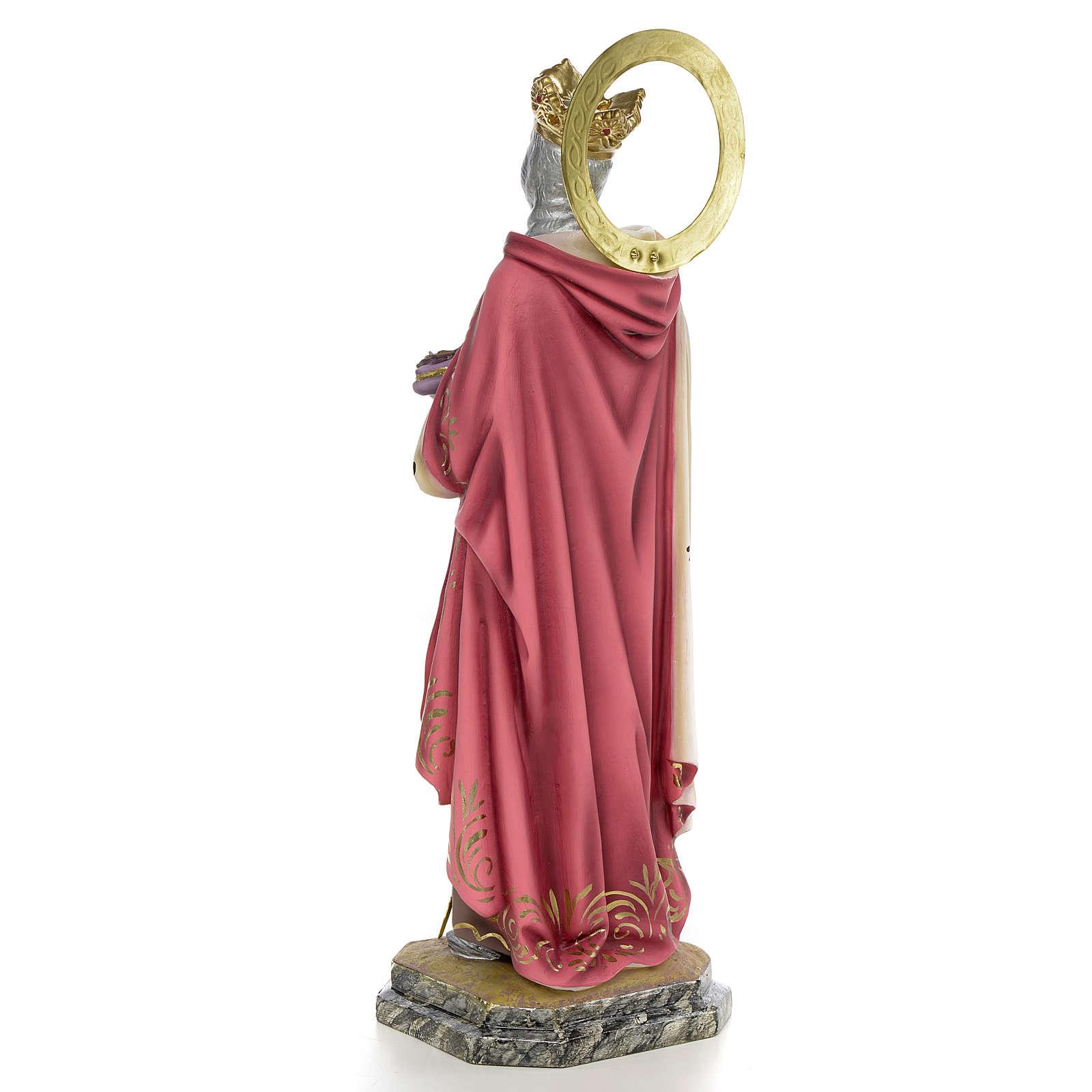 San Luigi Re di Francia 40 cm pasta di legno dec. elegante 4