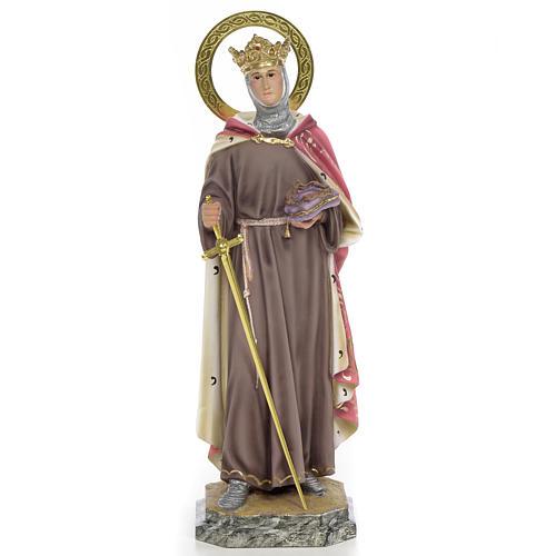 San Luigi Re di Francia 40 cm pasta di legno dec. elegante 1