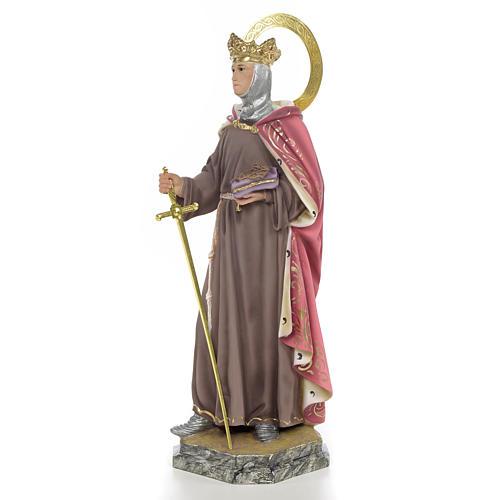 San Luigi Re di Francia 40 cm pasta di legno dec. elegante 2