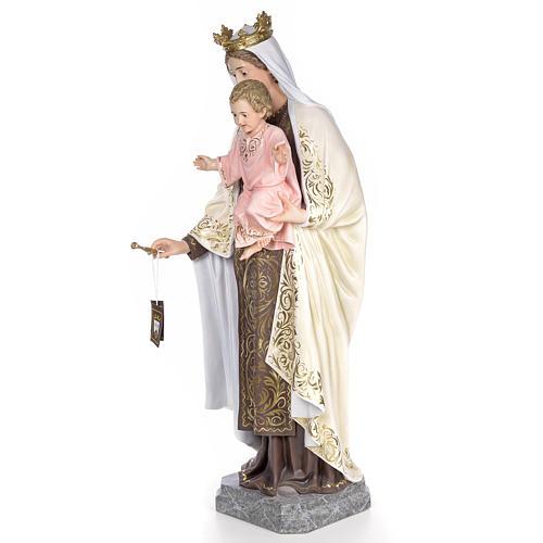 Beata Vergine Maria del Monte Carmelo 140 cm dec. elegante 2