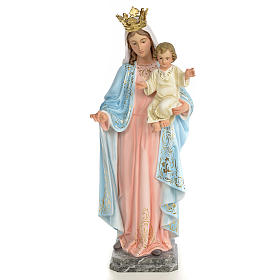 Our Lady of the Rosary wooden paste 60cm, fine finish s1