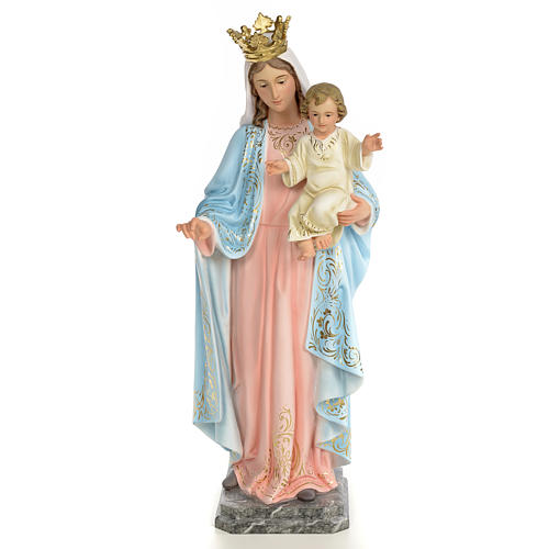 Our Lady of the Rosary wooden paste 60cm, fine finish 1