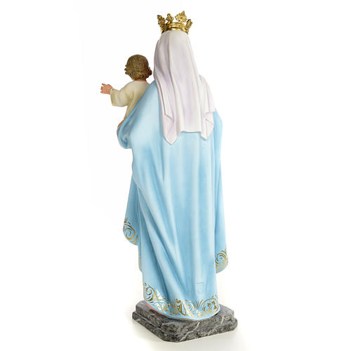 Our Lady of the Rosary wooden paste 60cm, fine finish 3