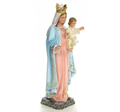 Our Lady of the Rosary wooden paste 60cm, fine finish 4