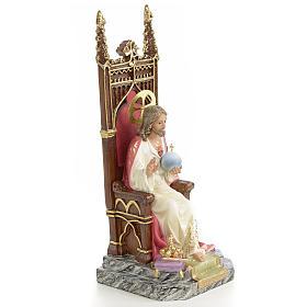 Sacro cuore di Gesù su trono 25 cm dec. elegante s4