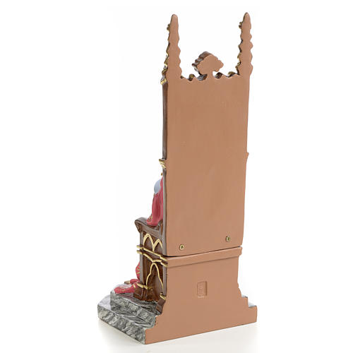 Sacro cuore di Gesù su trono 25 cm dec. elegante 3
