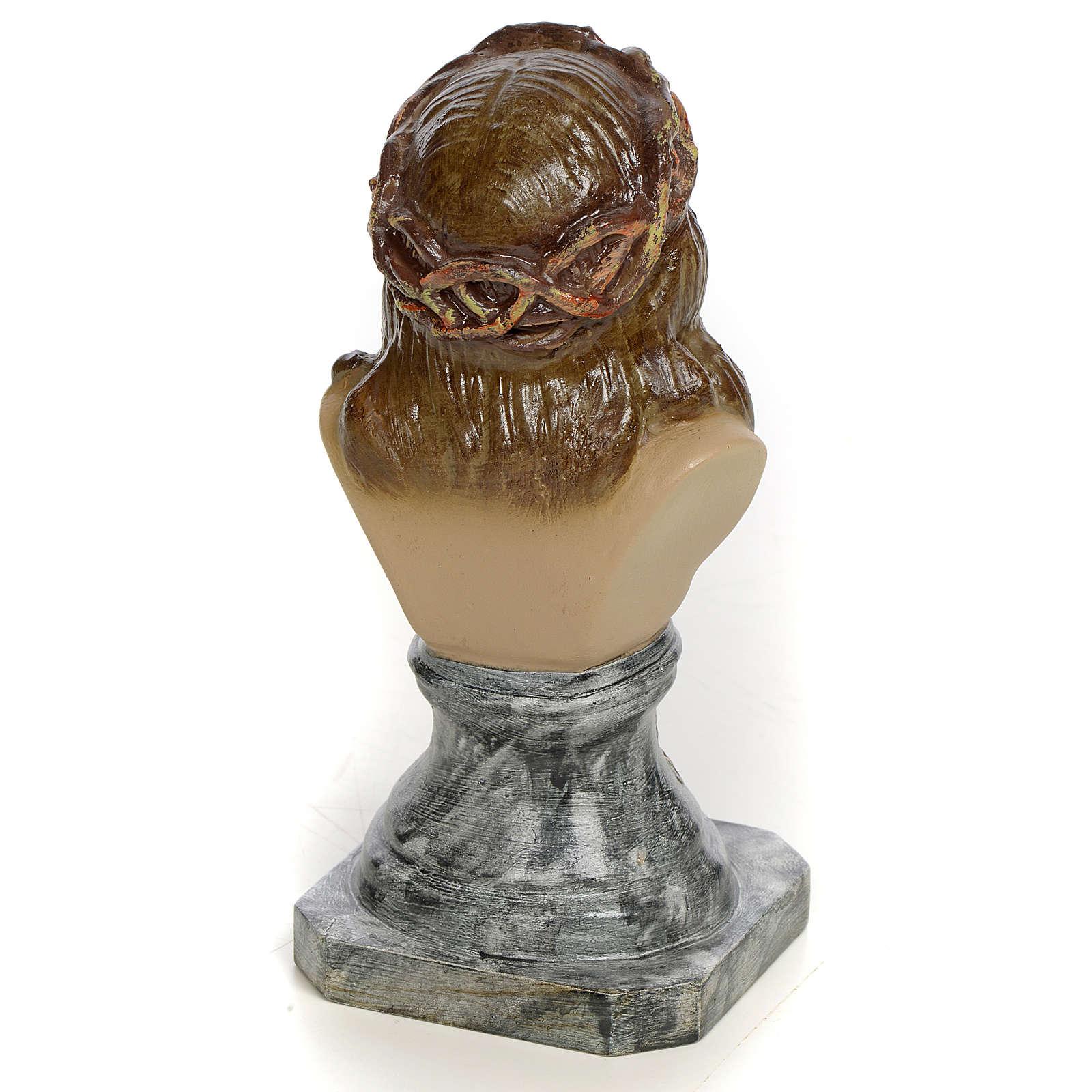 Buste Christ de Limpias 30 cm pâte à bois fin. élégante 4