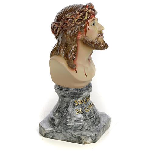 Gesù di Limpias busto 30 cm pasta di legno dec. elegante 2