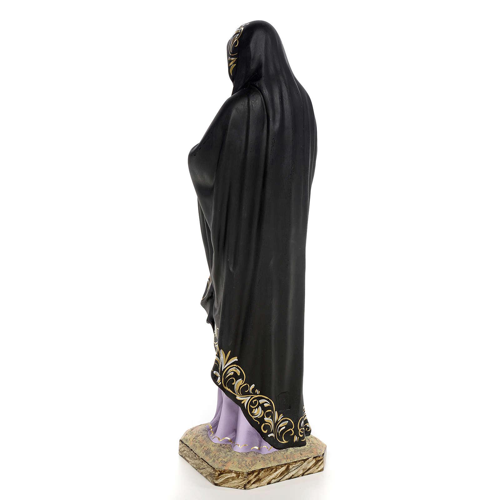 Madonna della solitudine 50 cm pasta di legno dec. elegante 4