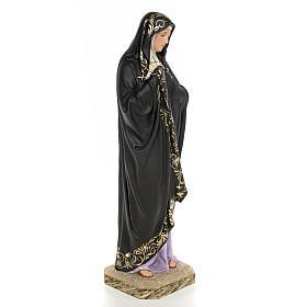Madonna della solitudine 50 cm pasta di legno dec. elegante s4
