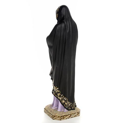 Madonna della solitudine 50 cm pasta di legno dec. elegante 3