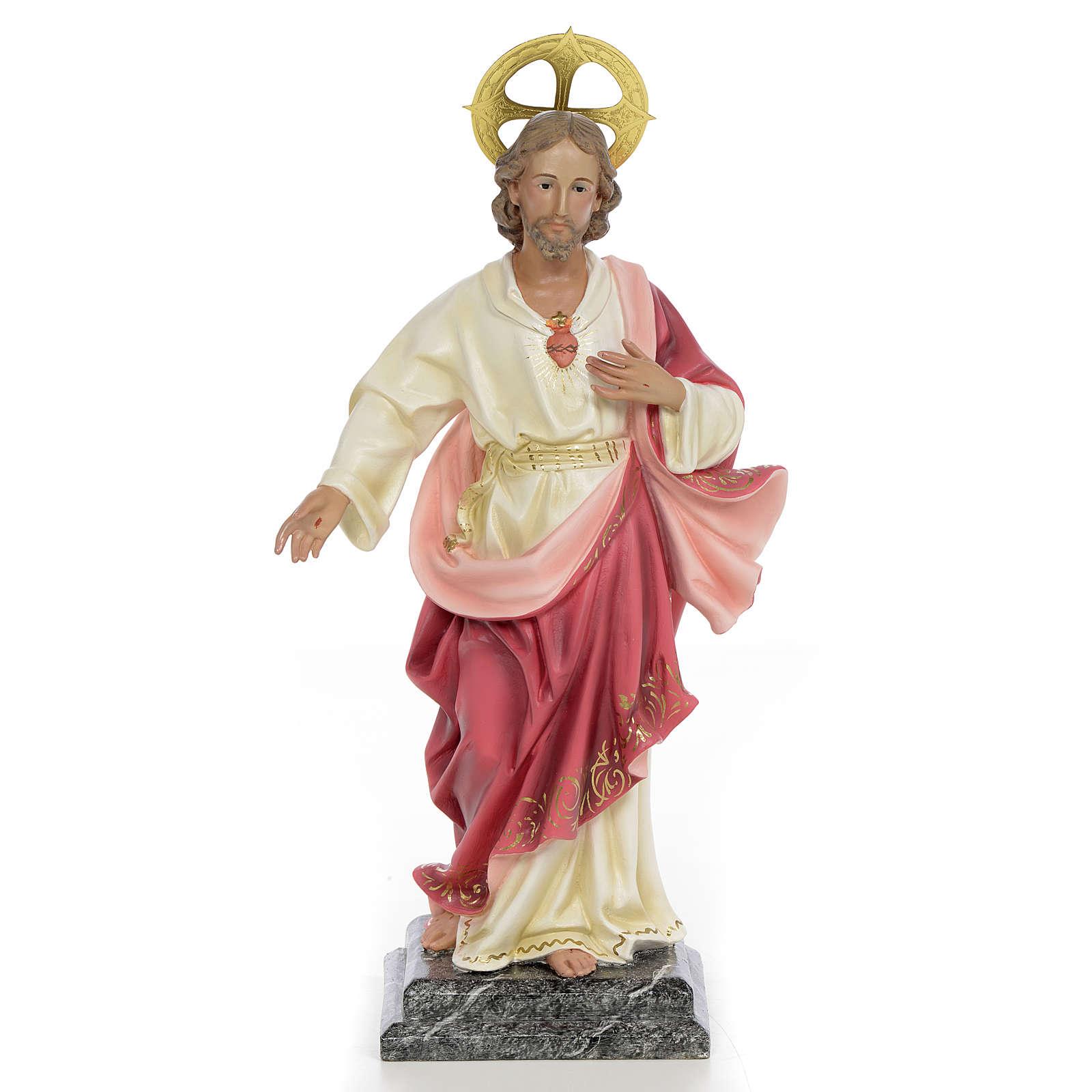 Sacré Coeur de Jésus 40cm pâte à bois 4