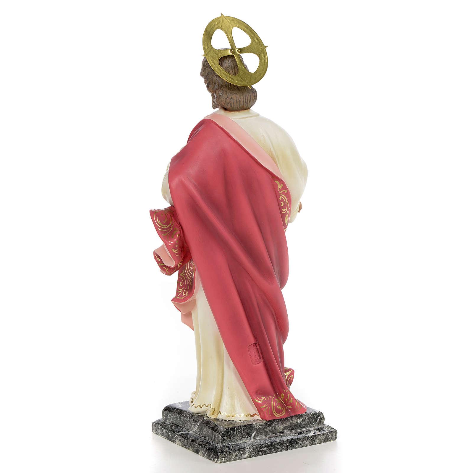 Sacro Cuore di Gesù 40 cm pasta di legno dec. elegante 4
