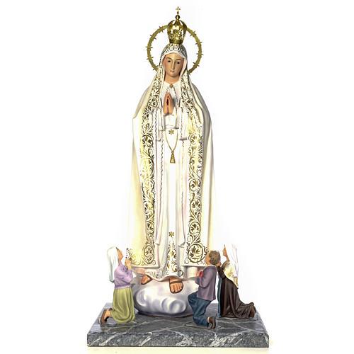 Madonna di Fatima con veggenti 120 cm dec. elegante 1
