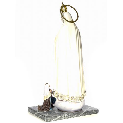 Madonna di Fatima con veggenti 120 cm dec. elegante 3