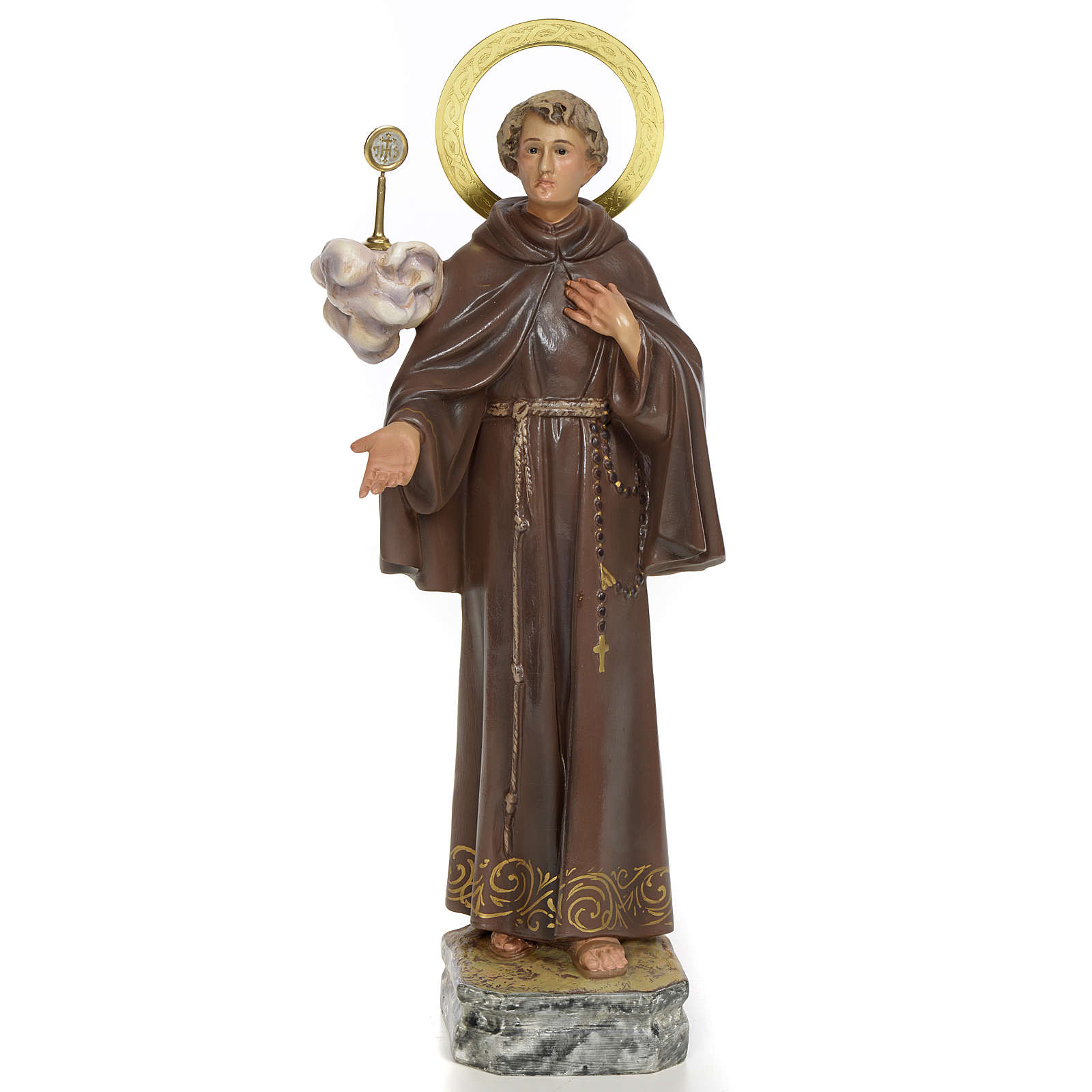 San Pasquale Baylòn 30 cm pasta di legno dec. elegante 4