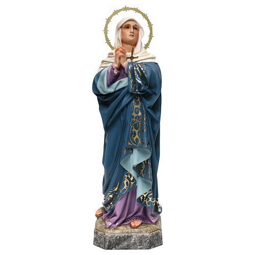 Maria Addolorata 40 cm pasta di legno dec. elegante