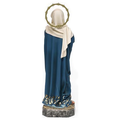 Maria Addolorata 40 cm pasta di legno dec. elegante 6