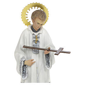 San Luigi Gonzaga 20 cm pasta di legno decoro elegante s4