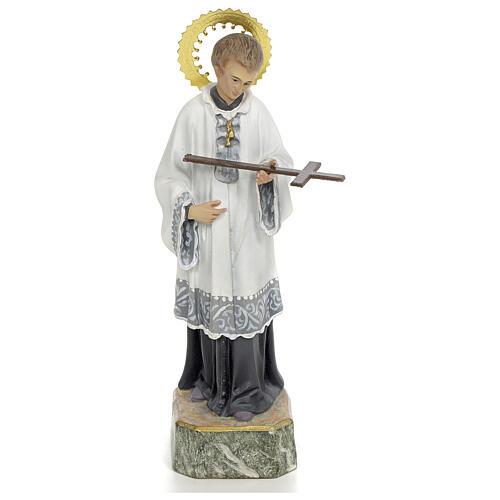 San Luigi Gonzaga 20 cm pasta di legno decoro elegante 1