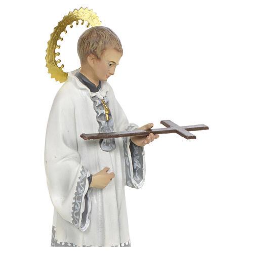 San Luigi Gonzaga 20 cm pasta di legno decoro elegante 2