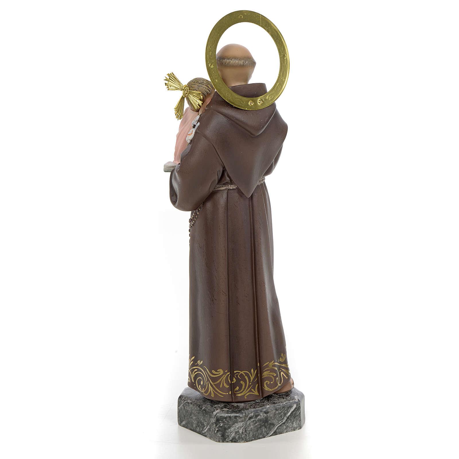 Sant'Antonio da Padova 30 cm pasta di legno decoro elegante 4