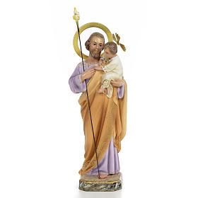 San Giuseppe Bambino in braccio 30 cm pasta di legno dec. elegan s1