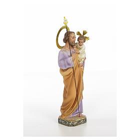 San Giuseppe Bambino in braccio 30 cm pasta di legno dec. elegan s4