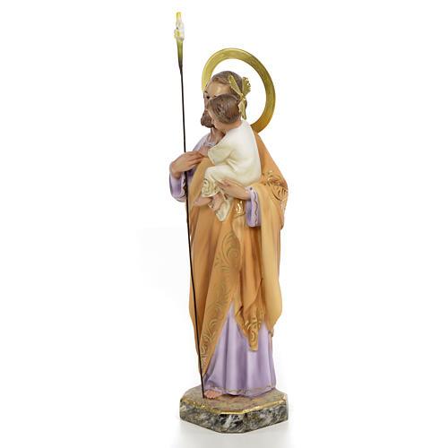 San Giuseppe Bambino in braccio 30 cm pasta di legno dec. elegan 2