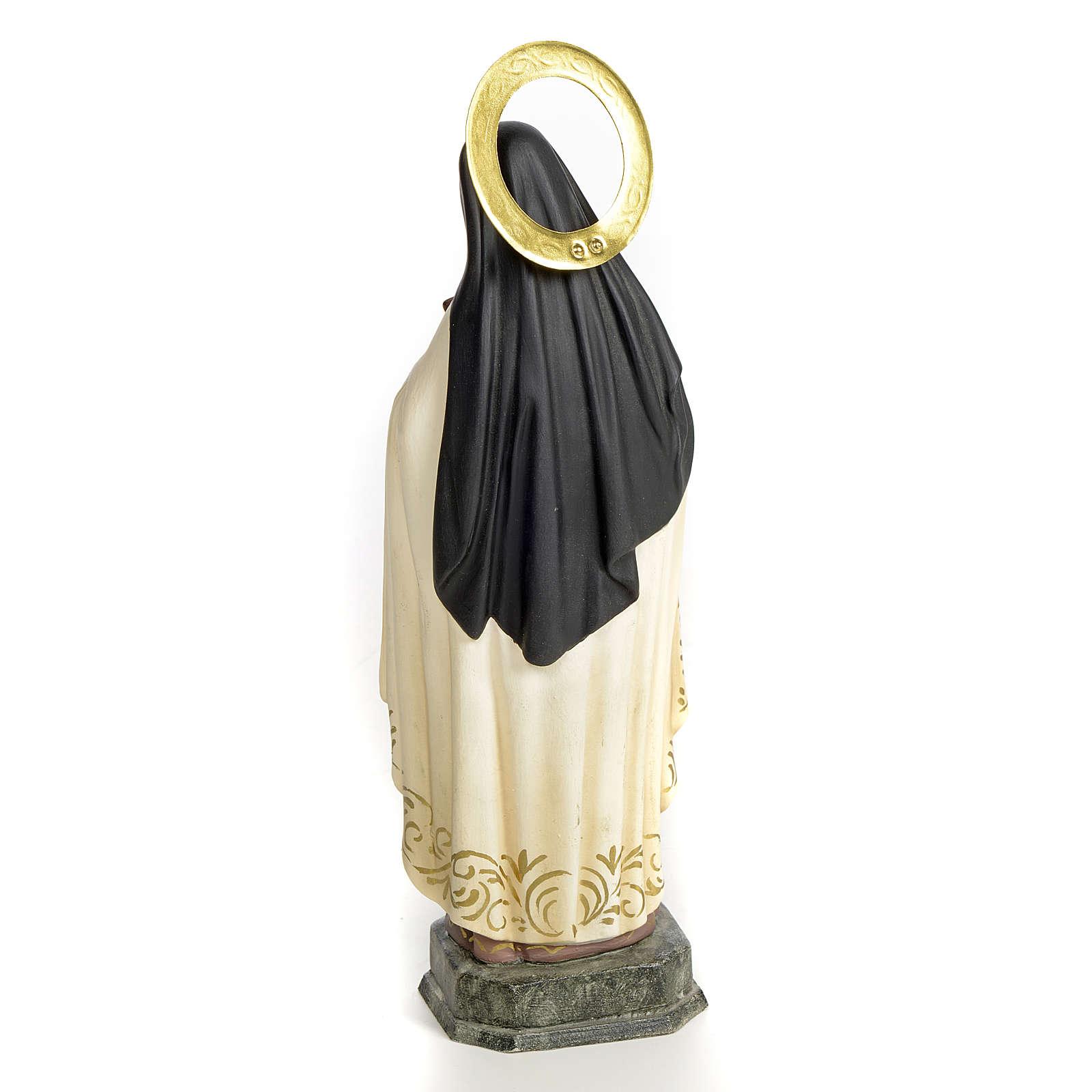 Santa Teresa de Lisieux 20 cm pasta de madeira acab. elegante 4