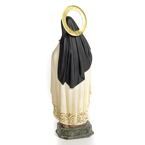 Santa Teresa de Lisieux 20 cm pasta de madeira acab. elegante 3