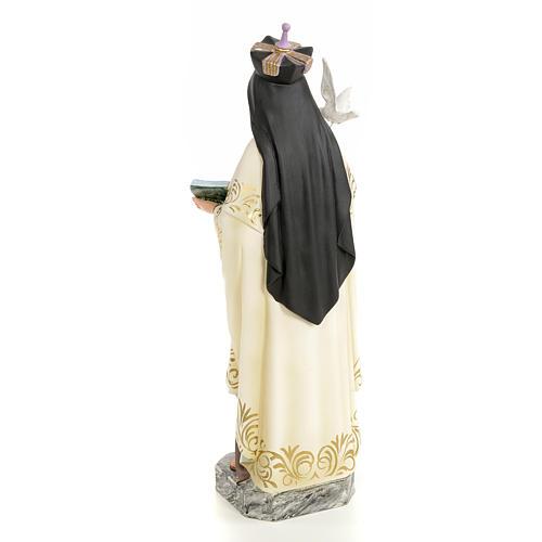 Santa Teresa d'Avila 40 cm pasta di legno dec. elegante 3