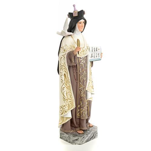 Santa Teresa d'Avila 40 cm pasta di legno dec. elegante 4