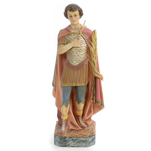 Saint Expeditus wooden paste 30cm, aged finish 1