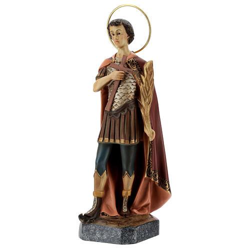 Saint Expeditus wooden paste 30cm, aged finish 3