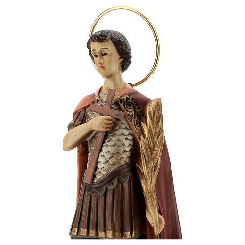 San Espedito di Melitene 30 cm pasta di legno dec. anticata 2