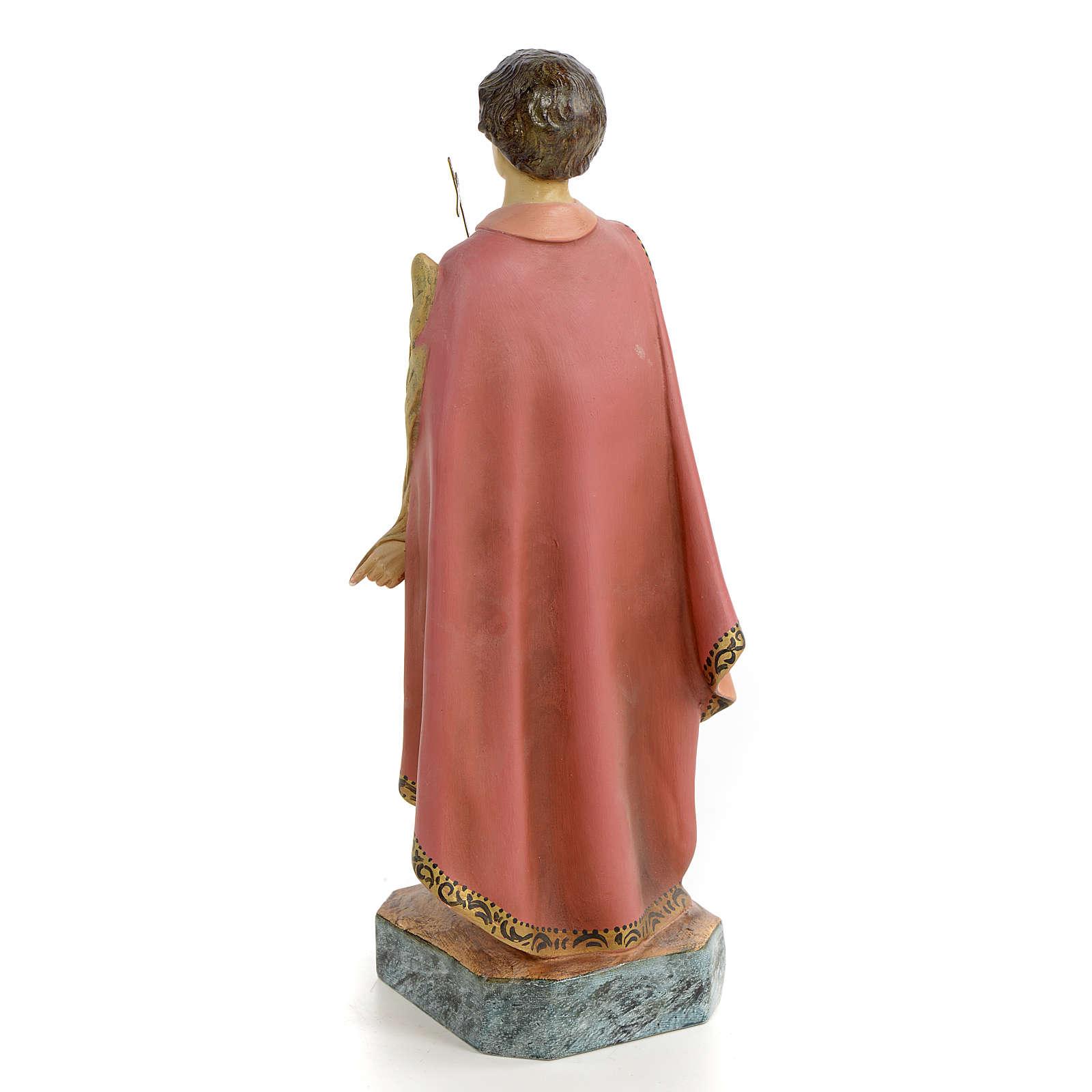 Santo Expedito de Melitene 30 cm pasta de madeira acab. antiquado 4