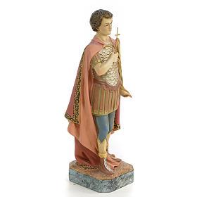 Santo Expedito de Melitene 30 cm pasta de madeira acab. antiquado s4