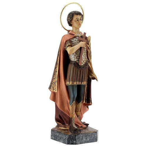 Saint Expeditus wooden paste 30cm, aged finish 4