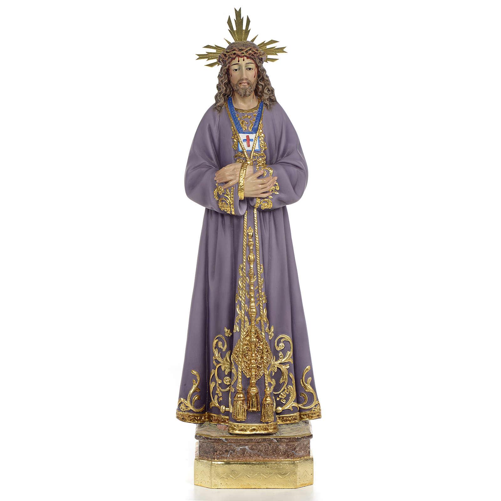 Gesù di Nazaret di Medinaceli 50 cm pasta di legno dec. superio 4